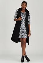 STYLE REPUBLIC - Melton Sleeveless Coat Black