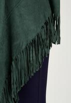 c(inch) - Longer Length Fringe Jacket Dark Green