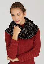 Dazzle - Chunky Knit Scarf Black