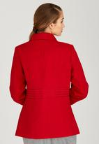c(inch) - Saddle Stitch Double Breasted Coat Red