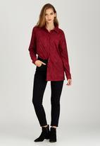 STYLE REPUBLIC - Suedette Shirt Dark Red