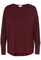 edit - Oversized Tunic Dark Red