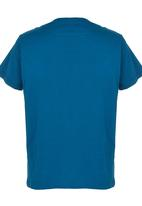 Quiksilver - Filled In Boys - Tee Mid Blue