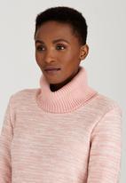 edit - Cowl Neck Jersey Pale Pink