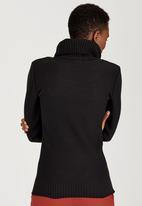 edit - Cowl Neck Jersey Black