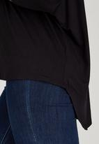 edit - Oversized Tunic Black