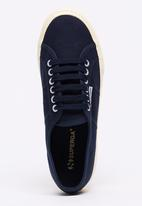 SUPERGA - Classic Canvas Wedge Sneakers Navy