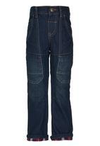 Twin Clothing - Denim Cargo Pants Dark Blue