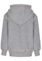 Hooligans - Dreamy Hooded Zip Up Jacket Grey