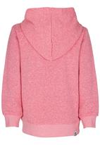 Roxy - Speckled Egg - Fleece Hoodie Dark Pink