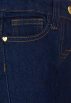 Twin Clothing - Heart Trim Denim Dark Blue