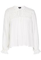 STYLE REPUBLIC - Lace Inset Blouse White