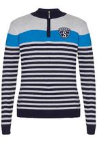 Twin Clothing - Top With Zip Navy