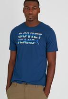 SOVIET - Tibbs S/Slv Printed T-Shirt Navy