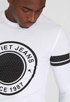 SOVIET - Turner L/Slv Printed T-Shirt White