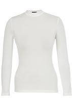 c(inch) - Turtle Neck Long Sleeve Top Cream