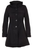 c(inch) - Turtle Neck Coat Black