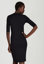 STYLE REPUBLIC - Front Drape Dress Black