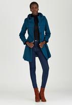 c(inch) - Turtle Neck Coat Turquoise