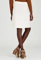 STYLE REPUBLIC - Zip A-line Midi Skirt Milk