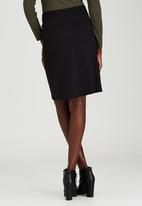 STYLE REPUBLIC - Zip A-line Midi Skirt Black