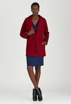 c(inch) - Drop Shoulder Coat Dark Red
