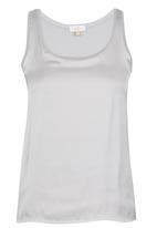 edit - Silk Knit Combo Vest Grey