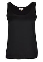 edit - Silk Knit Combo Vest Black