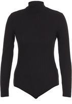 c(inch) - Turtle Neck Bodysuit Black