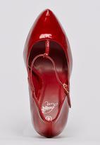 Diva - Ankle-strap Platform Heels Red