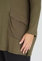 edit Plus - Tunic with Pocket Detail Mid Green