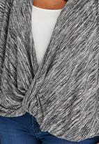 edit Plus - Drape Knit Top Grey