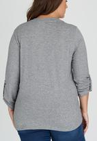 edit Plus - Pleat Knit Shirt Grey