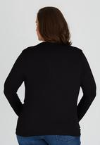 edit Plus - Drape Knit Top Black