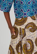 Black Velvet - Swirl Print Pocket Maxi Skirt Mid Brown