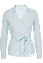 edit - Structured Wrap Shirt Pale Blue