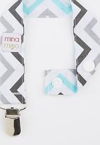 Mina Moo - Aqua & Grey Mini Dummy Clip Multi-colour