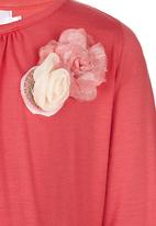 See-Saw - Flower Detail Top Mid Pink
