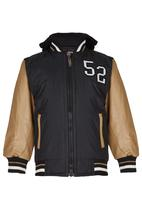 Twin Clothing - Bomber Jacket With Hoody Black