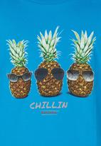 Rip Curl - Pineapples Chillin Tee Mid Blue