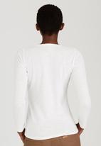 JEEP - Slub Fashion Top with Foil Print Off White
