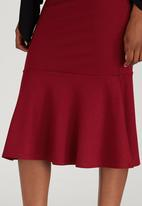 edit - Flute Skirt Dark Red