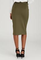 STYLE REPUBLIC - Zip Tube Skirt Khaki Green