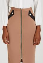 STYLE REPUBLIC - Zip Tube Skirt Camel