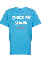 Rip Curl - Check My Shark Tee Blue