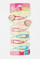 Character Fashion - 4 Pack  Barbie Snap Clips Multi-colour