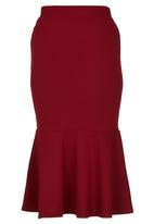 edit - Flute Skirt Dark Red