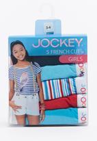 Jockey - 5 Pack Girls Print French Cut Pale Blue