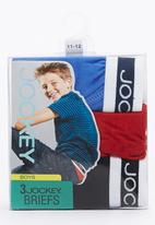 Jockey - Boys 3Pack Plain Jockey Multi-colour