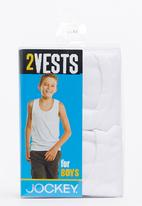 Jockey - Boys 2Pack Vest White